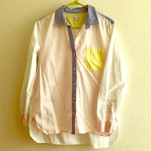 Colorblock Button Up